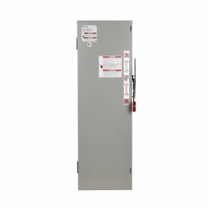 Eaton DT362NGK Safety Switch, Double Throw, Heavy Duty, 60A, 3P, 600VAC, NEMA 1
