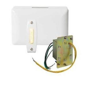 Nutone BK240LWH Wired Chime Kit, Illuminated, 1-Pushbutton