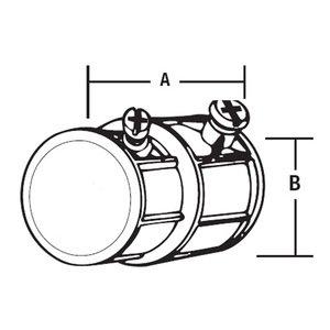 Thomas & Betts TX-221 1/2FLEX/1/2EMT,COUPLG,COMB,SS,EMT,D