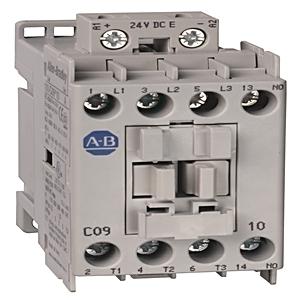 Allen-Bradley 100-C09UEJ10 Contactor, IEC, 9A, 3P, 24VDC Coil, Load Side Coil Termination