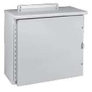 """Hubbell-Wiegmann RHC202008 Enclosure, NEMA 3R, Hinged Cover, 20"""" x 20"""" x 8"""""""