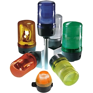 Allen-Bradley 855BS-N45SL4 Round Single-Color LED Beacon, Type: Steady/Flashing, Size: 90 mm