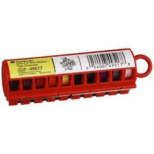 3M STD-CX Wire Marker Tape Dispenser: Colors - 10/case