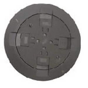 Wiremold RC9CTCGY Poke-Thru Cover and Flange, RC9 Series, GRAY