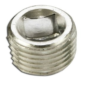 "Appleton PLG50RA Close-Up Plug, Recessed Head, 1/2"", Explosionproof, Aluminum"