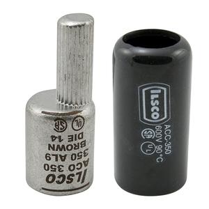 Ilsco ACO-2/0 Terminal Plug, Offset, Aluminum, 2/0 AWG