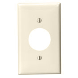 "Leviton 80704-T 1-Gang Single Rcpt Wallplate, (1) 1.406"" Hole, LA Nylon"