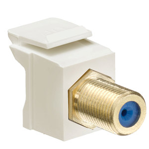 Leviton 40831-FTG QuickPort F-Connector, Gold, Almond