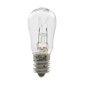 Candela 6S6-155V-I Miniature Lamp, 155 Volt, 6 Watt, Candelabra Screw Base