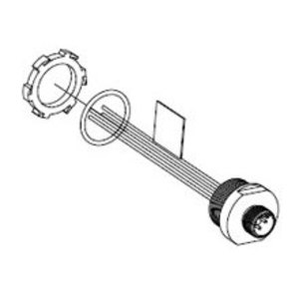 Woodhead 8R4006A18A120 Micro-Change®, Male, Micro Receptacle Straight Single