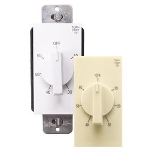Air King AKT60 60 Minute Timer Switch, White & Almond