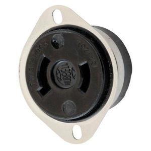 Hubbell-Wiring Kellems HBL7526 LKG FLG RCPT, 15A 125V, L1-15R, BK