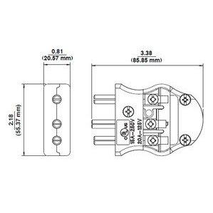 Leviton 20MC-CL LEV 20MC-CL 20A3W MALE PIN CO