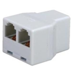 Wattstopper LMRJ-CS8 Telephone Line, Splitter, 3 Port, 1 Input, 2 Outputs, Plenum rated
