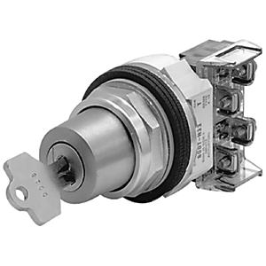 Allen-Bradley 800T-J631A Selector Switch, 3-Position, 30mm, Keyed, Key Removal Center