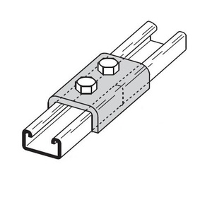 Eaton B-Line B169GRN TWO HOLE SPLICE CLEVIS FOR B52 CHANNEL, GREEN