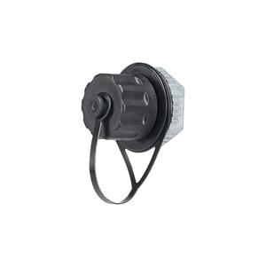 Panduit IAEBHC5E Bulkhead Coupler, Cat 5e, RJ45, 8-Position, 8-Wire, With Cover, Black