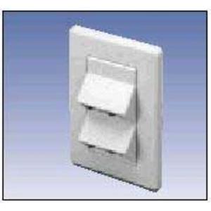 A0645269 4-PORT MDVO ANGLED PLATE WHITE