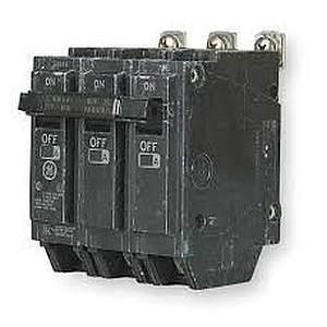 GE Industrial THHQB32050 Breaker, 50A, 240VAC, 3P, Bolt On, 22kAIC