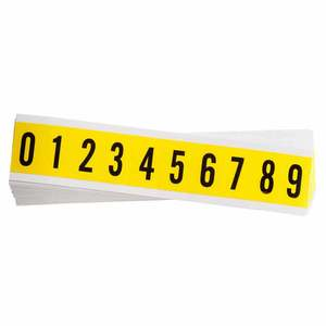 Brady 3430-#-KIT Repositionable Number Label, Combined Pack Of Numbers, 0-9