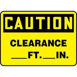 """Panduit PVS1014C7307 10.00"""" x 14.00"""" Caution, CLEAR__FT __IN"""