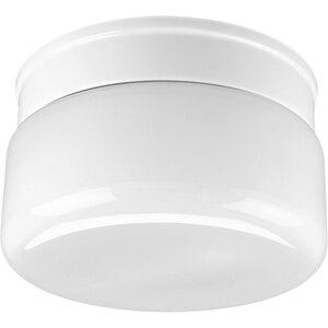 Progress Lighting P3518-30 Drum Fixture, 2-Light, 60W, White