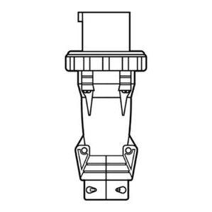 Pass & Seymour PS4100P7-W Pin & Sleeve Plug, 100A, 3PH 480V, 3P4W