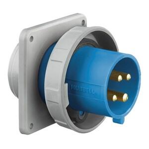 Hubbell-Wiring Kellems HBL460B9W IEC,INLET,3P4W, 60/63A 200-250V,4X/69K