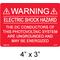 PV Labels 03-104 Warning Label, Electric Shock, 4
