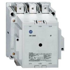 Allen-Bradley 100-D630ED00 Contactor, IEC, 630A, 3P, 110-130VAC Coil, No Auxiliary Contacts