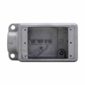 "Cooper Crouse-Hinds FS2SCA FS Device Box, 1-Gang, Dead-End, 3/4"", Aluminum"