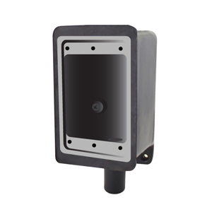 "Calbond PV0700FD2 FD Device Box, 1-Gang, Dead-End, 3/4"", PVC Coated Steel"