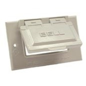Hubbell-Raco 5101-1 Single Gang Weatherproof, GFI Type Receptacle Plate