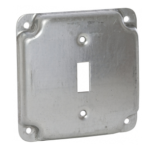 "Hubbell-Raco 800C 4"" Square Exposed Work Cover, (1) Toggle Switch"