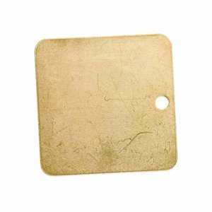 23213 BLANK BRASS VALVE TAG, 2 IN  SQ.,