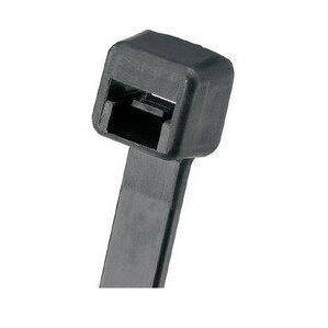 """Panduit PLT2M-M0 Cable Tie, Miniature, 8"""", Weather Resistant Nylon, Black"""