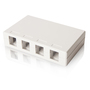 SMB4PWHT 4 PORT SURFACE MOUNT BOX WHITE