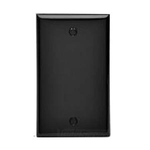 Leviton 80714-E Blank Wallplate, 1-Gang, Nylon, Black, Standard, Box Mount