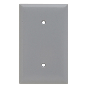 Pass & Seymour SP14-GRY SMOOTH WALL PLATE 1G