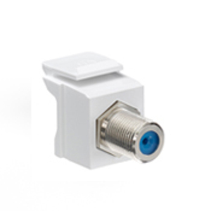 41084FWF SNAP IN F COUPLER WHITE