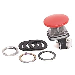 Allen-Bradley 800T-D6JA Push Button, Mushroom Head, Momentary, 30mm, Red, NEMA 4/13