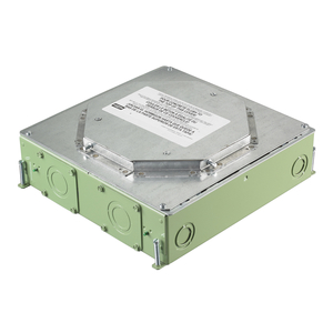 """Hubbell-Kellems CFB4G30RCR Floor Boxes, CFB Series, 4-Gang, 3.00"""" Round Cover, Corrosion Resistant"""
