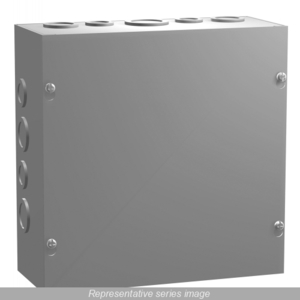Hammond Mfg CSKO12124 SCREW COVER W/KO'S 12X12X4