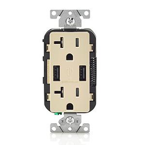 T5832I 20A 125V REC/DUAL USB CHARGER