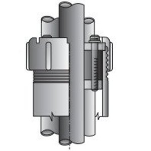 "OZ Gedney CSBG-400P-1 Conduit Sealing Bushing, Size: 4"", 1 to 4 Wire, Malleable Iron"