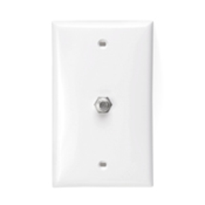 80781-W F-CONN WALL JACK WHITE