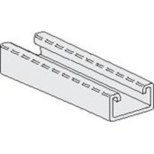 """PHD Manufacturing S1311PG Channel, Slotted, 1-5/8"""" x 13/16"""" x 10', Steel, Electro-Galvanized"""