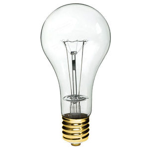 Candela 500-130V Incandescent Bulb, PS35, 500 Watt, 130V, Clear, Mogul Base
