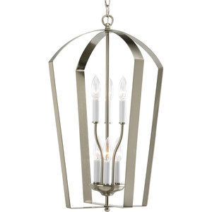 Progress Lighting P3929-09 6-60W CANDLE FOYER Gray