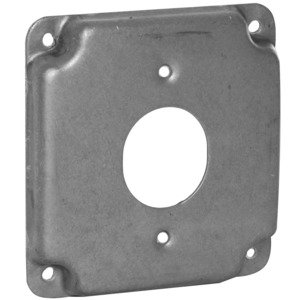"Hubbell-Raco 811C 4"" Square Exposed Work Cover, Single Locking 1.719"